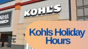 kohls holiday hours